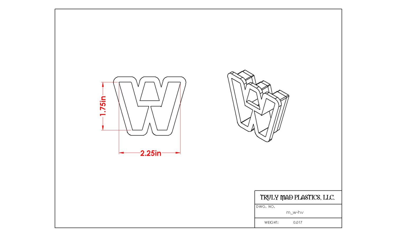 Mini W Helvetica