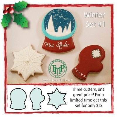 Winter Set 01 (Snowglobe 01, Snowflake 03, Mitten 01)