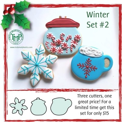Winter Set 2 (Cookie Jar, Snowflake 02, Hot Choc 2)