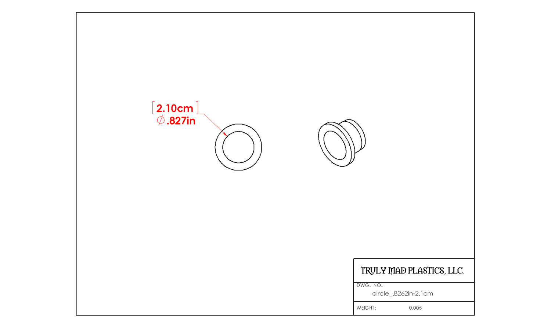 "Circle .826"" (2.1cm)"