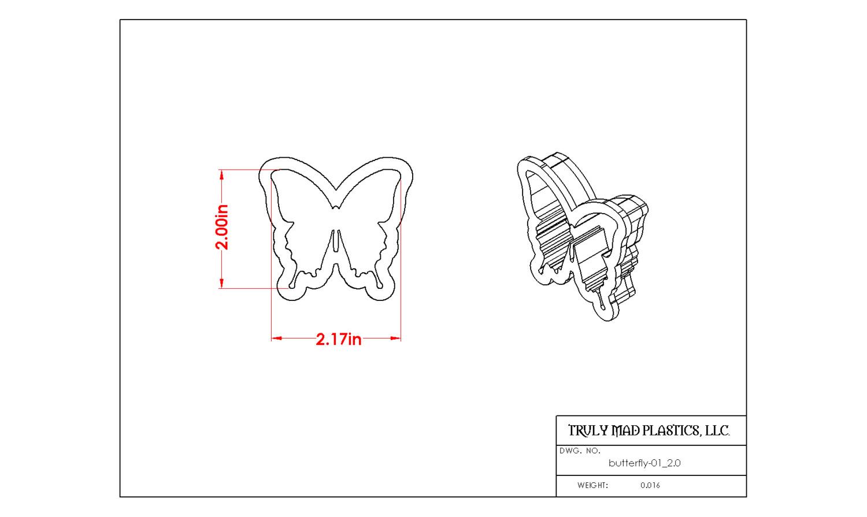 """Butterfly 01 (2.0"""")"""