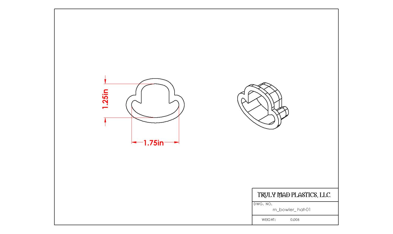 Mini Bowler Hat 01