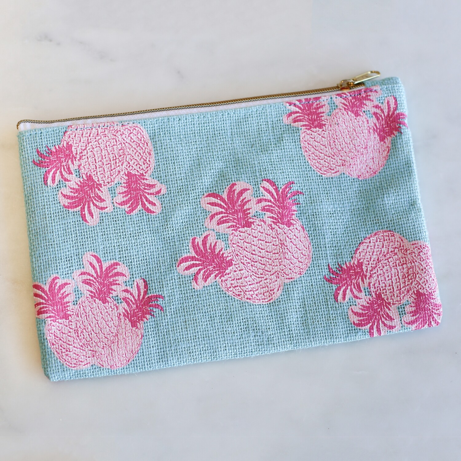 TRS PineappleCosmeticBag Blue/Pink
