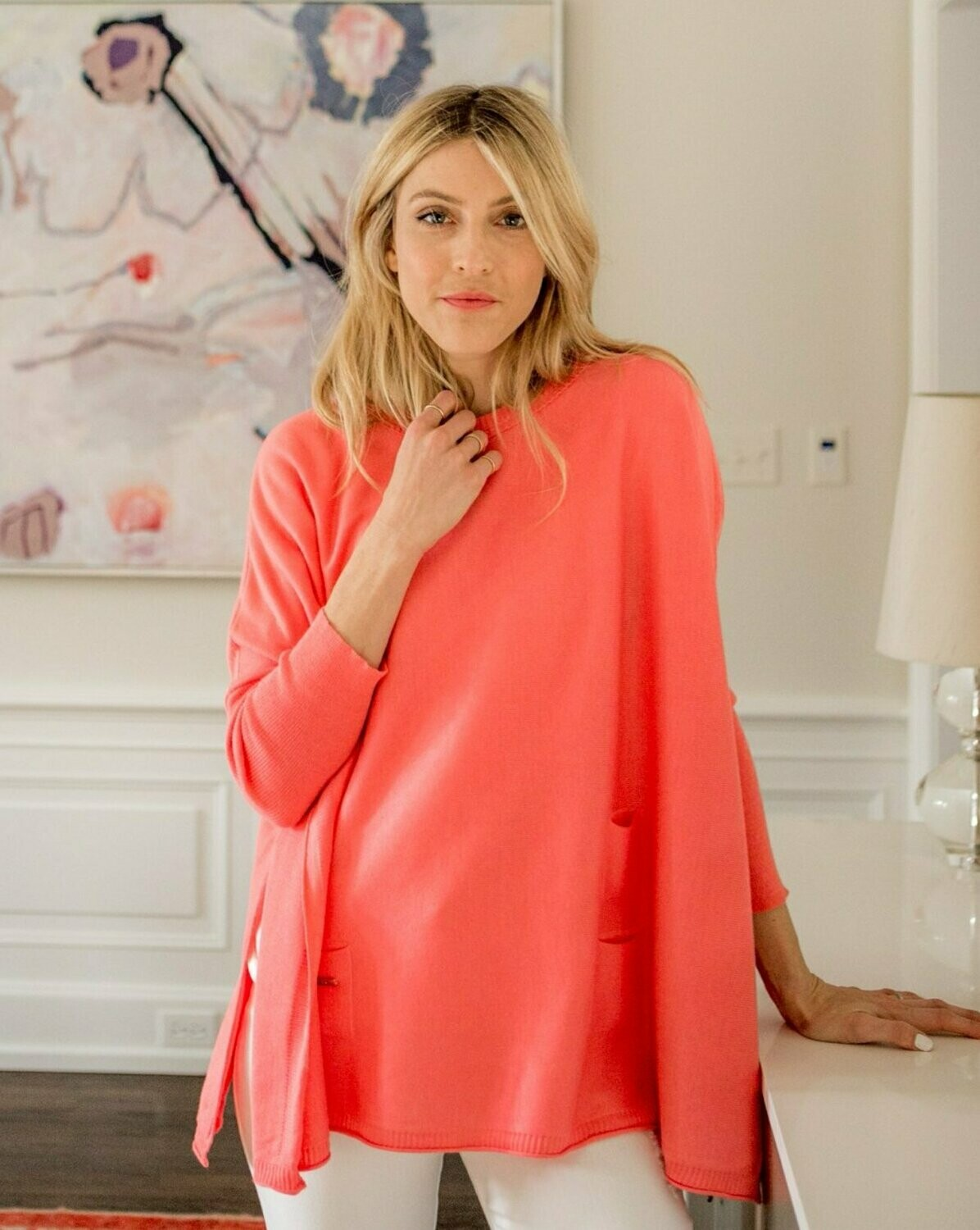 Catalina Sweater - Coral
