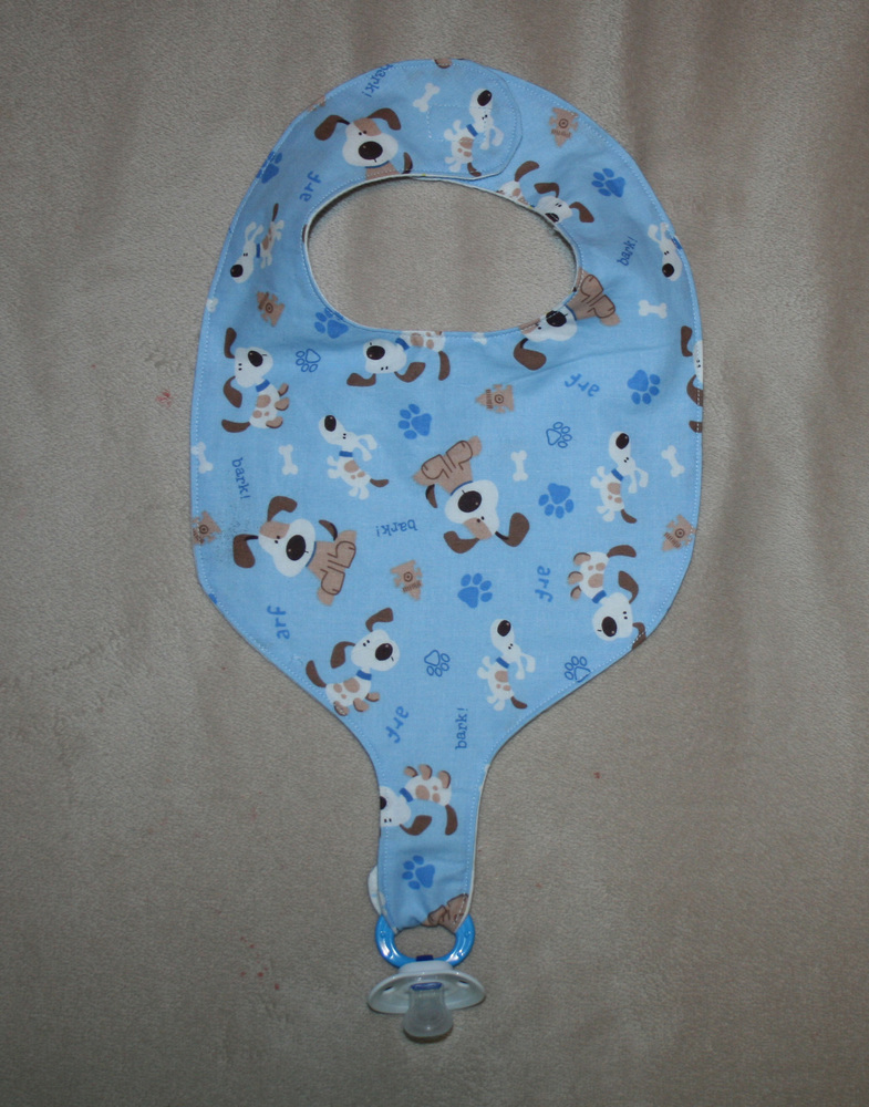 Bib and Binkie Holder (Pacifier NOT Included)