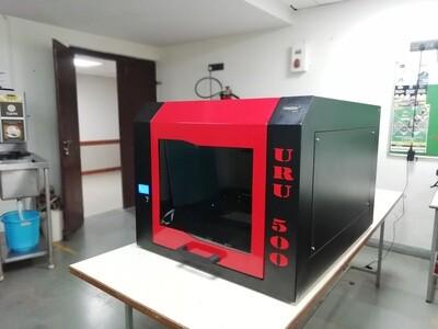 Uru 500 FDM Industrial Printer with encloure