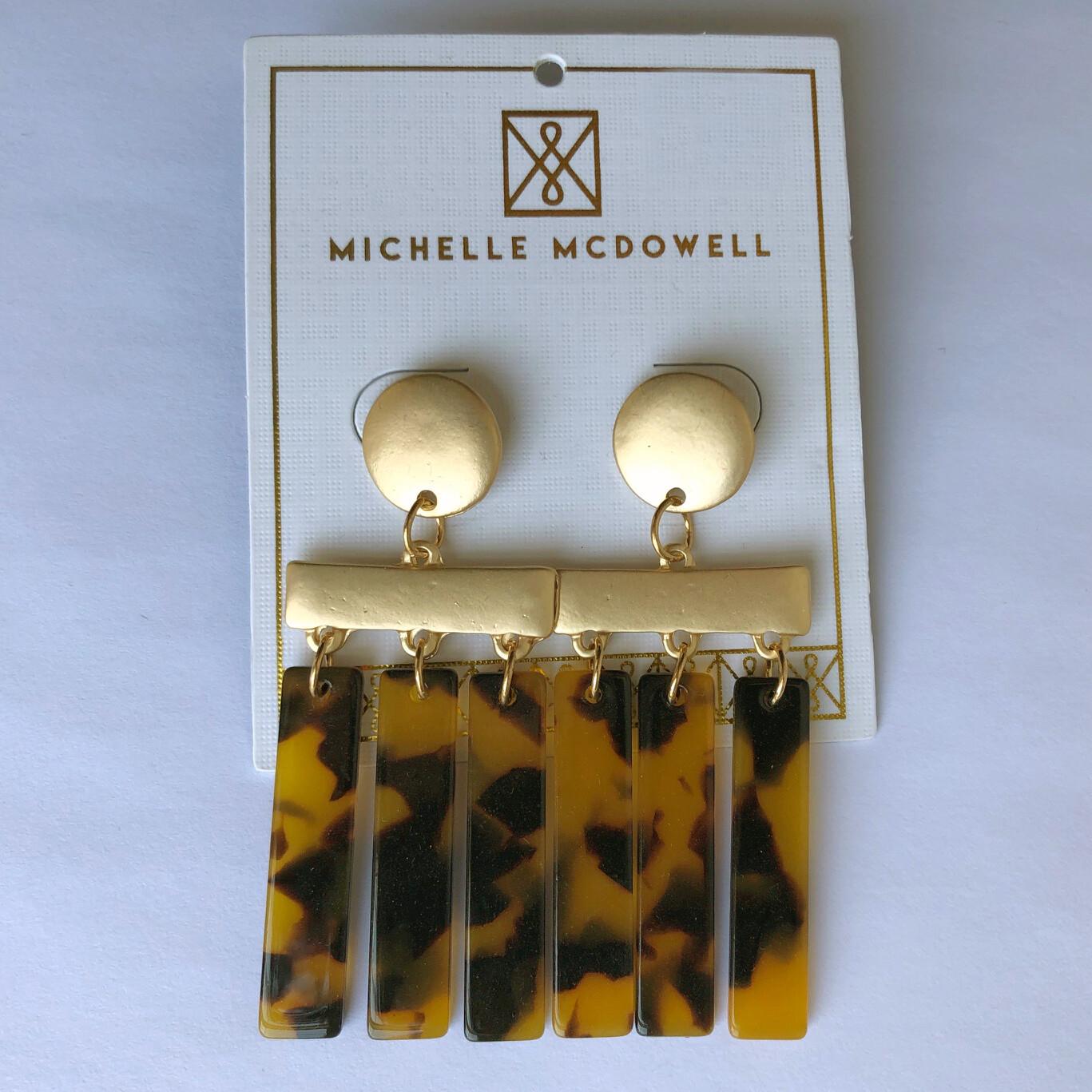 Michelle McDowell ~ Tortoise Dangle Earrings