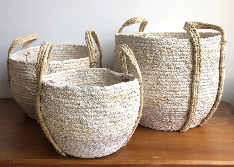 White Washed Shore Basket