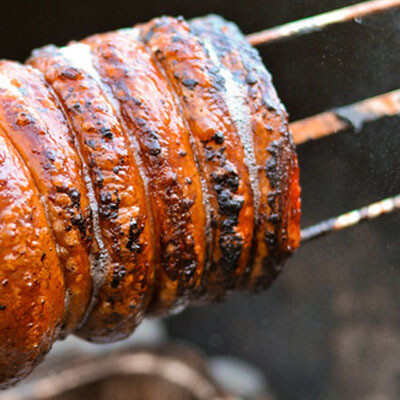 Charcoal BBQ Roasted Pork Belly Roll (4 serves)