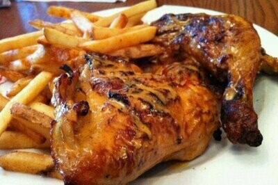 BBQ Peri-Peri Chicken + Chips (lunch 12-3pm)