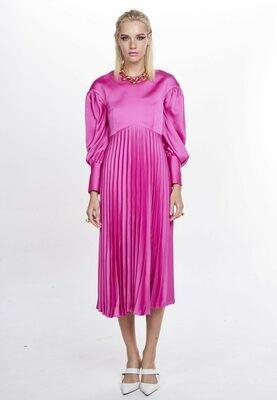 FLORINDA DRESS (Cerise)