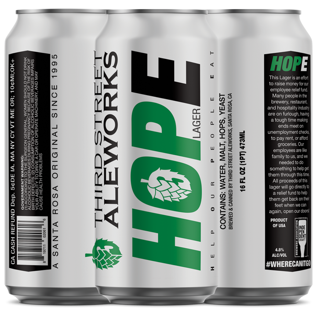 HOPE Lager - 100% of Proceeds go to Employee Relief Fund
