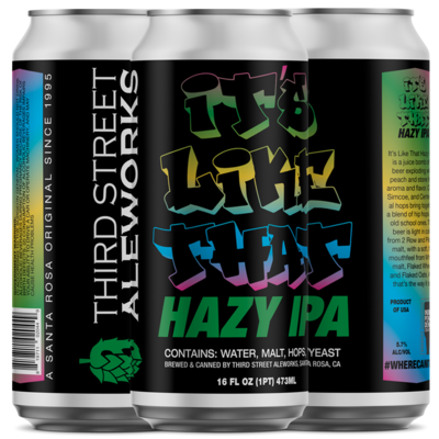 It's Like That Hazy IPA (Available 4/15)