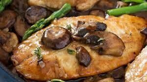 Chicken Marsala meal, single serve