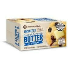 Butter Unsalted Sweet Cream 1 pound package