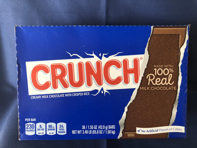 snack, Nestle Crunch Candy Bar 36-1.55oz
