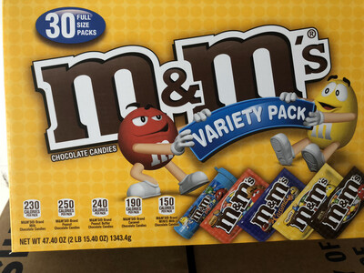 Snack, M&M's Variety Pack 30 Count