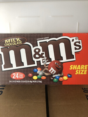 Snack, Plain M&M's 24-3.14 oz