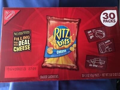 Snack, Ritz bits Cheese Sandwich Crackers 30pk-1.5 oz