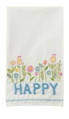 MP Embroidered Towels - Happy
