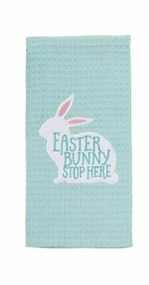 MP Waffle Weave Spring - easter bunny