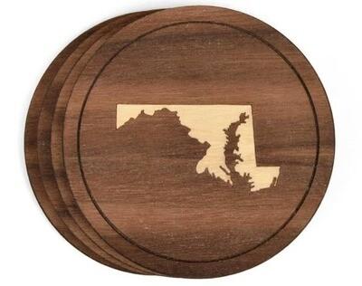 Virginia Wood Coasters