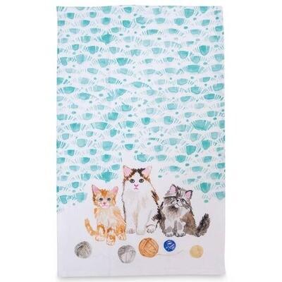 Kitten Tea Towel
