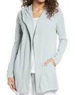 Barefoot Dreams Hooded Cardi - Blue