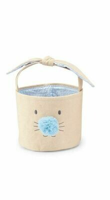 MP Bunny Face Easter Basket Small - blue