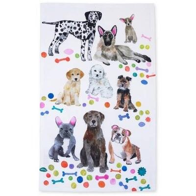 Watercolor Tea Towels  - dogs