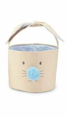 MP Bunny Face Easter Basket Large - blue