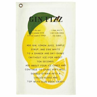 Gin Fizz Drink Recipe Towel