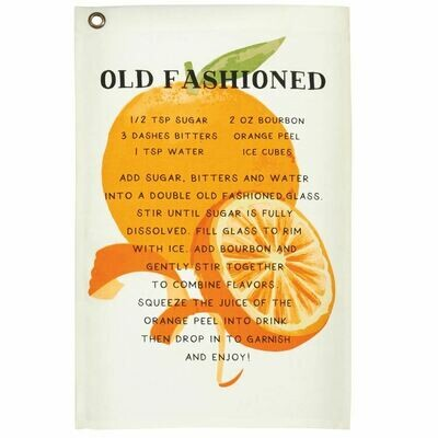 Old Fashioned Drink Recipe Towel