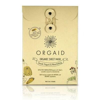 Orgaid Sheet Mask - 4 pack - Greek Yo. & Nourishing