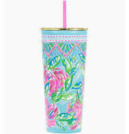 Tumbler with Straw - Totally Blossom