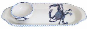 Blue Crab Chip & Dip Bowl
