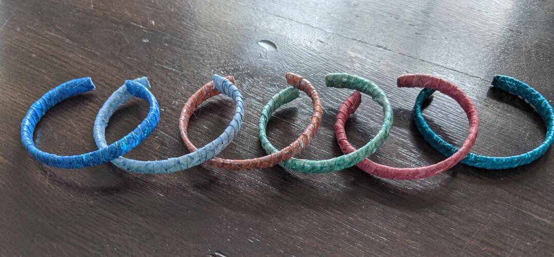 Fish Leather Band Bracelet