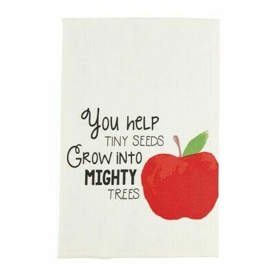 Teacher watercolor towel - apple