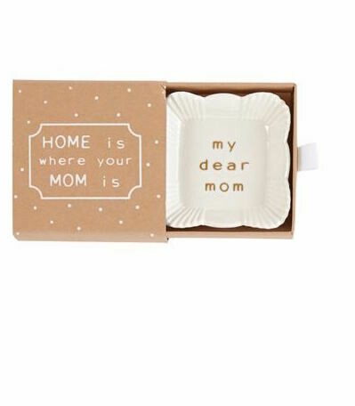 Mom trinket dish - square