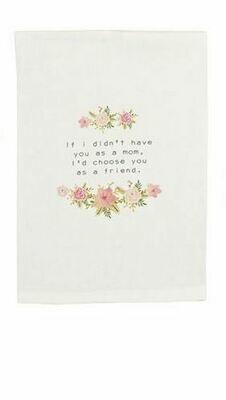 Floral towel - mom garland
