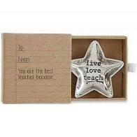 Teacher mini trinket tray - live love teacher