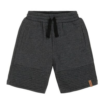 Charcoal  Quilted Terry Short
