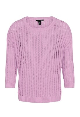 Tribal Open Knit Sweater Lavender