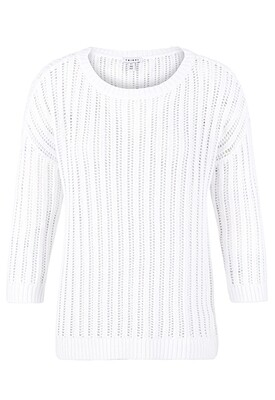 Tribal Open Knit Sweater White