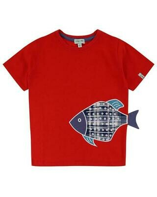 Lilly & Sid Red Fish Tee