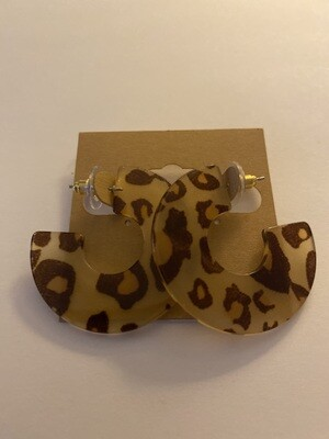 Cheeta Tort Hoops