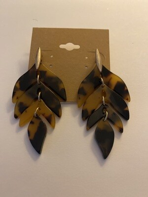Tort Leaf Earrings