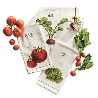 Farm Fruit Dish Towel with Berry Basket