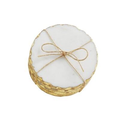 Gold  Foil Marble Coaster Set