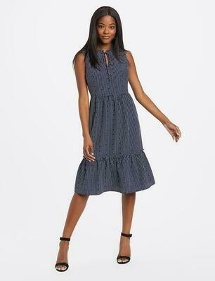 Draper James Hearts Dots Tiered Dress